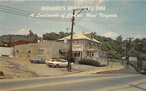 H65/ Clarksburg West Virginia Postcard Chrome Minard's Spaghetti Inn  20