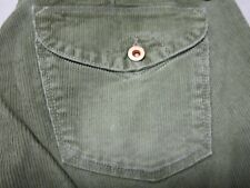 EARNEST SEWN GARBO WOMENS OLIVE BRANCH GREEN FLARE LEG BOOTCUT PANTS SIZE 28 NEW