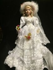 """Chantell Collection Porcelain Large Bride Doll wedding bridal Beatrice 26"""" w Box"""