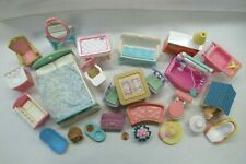 Used Fisher Price Loving Family Dollhouse FURNITURE ACCESSORIES LOT #2 for PLAY