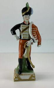 VINTAGE / ANTIQUE CAPODIMONTE 'HUSSAR' 1843 NAPOLEONIC SOLDIER FIGURE CAVALRY