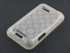Silicone case cover case grey for motorola defy + screen film