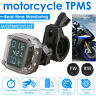 Motorcycle Wireless TPMS Tire Pressure Monitoring System w/2 External Sensors
