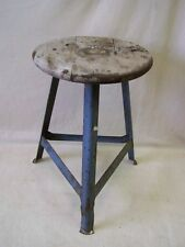 Old Garage stool, designer stool, wood metal Vintage Bar Stool ART DECO