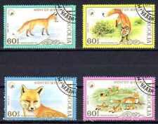 Animaux Renards Mongolie (66) série complète 4 timbres oblitérés