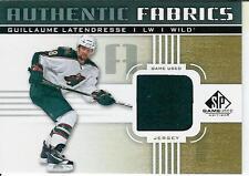 2011-12 SPGU Authentic Fabrics Guillaume Latendresse #AF-GL Ottawa Senators
