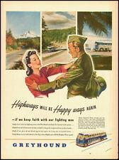 1945 Vintage ad for GREYHOUND Buslines/WWII Era/Buy War Bonds (032613)
