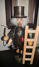 Vintage German Democratic Republic Chimney Sweep Wooden Smoker Doll