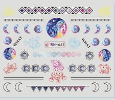 Nail Art Stickers Water Decals Transfers Unicorn Pattern (DB641)