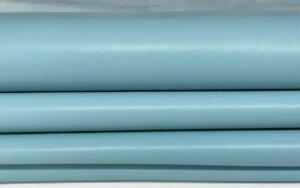 AZURE SKY BLUE smooth Lambskin Lamb Sheep leather 2 skins total 12sqf 0.9mm