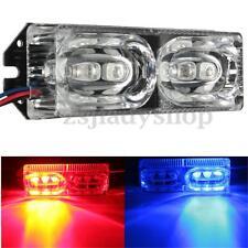 12V LED Motorcycle Warning Brake Tail Stop Strobe Flash Emergency Light Red/Blue