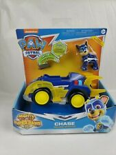 "Paw Patrol Mighty Pups Super Paws Chase Deluxe Vehicle with Lights + Sound ""NEW"""