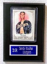 "Sandy Koufax Los Angeles Dodgers Sport Card Plaque 5"" x 7"""