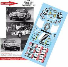 DECALS 1/43 REF 0495 ALPINE RENAULT A110 THERIER RALLYE SAN REMO 1973 RALLY WRC
