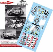 DECALS 1/24 REF 495 ALPINE RENAULT A110 DARNICHE RALLY SAN REMO 1973 RALLYE WRC