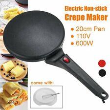 Electric Non Stick Crepe Maker Baking Pancake Pan Frying Griddle Machine 600W