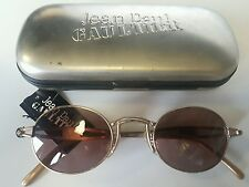 Jean Paul Gaultier Sunglasses 56-7108 Vintage New Silver Frame Brown Lenses NOS