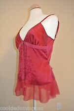 """CHIC Rampage Red Romantic Tank Sleeveless  Blouse Top SIZE Small 30"""" CHEST"""
