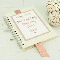 Personalised Ring Bound Hardback Rose Gold Wedding Planner Journal **A4 or A5**