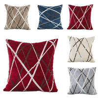 42 x 42 cm Chenille Geometric Cushion Cover Pillow Case Home Bed Decorations