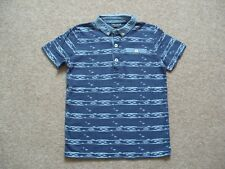 Boys Next T-shirt Button-down Collar Navy Blue Cotton Age 6 years
