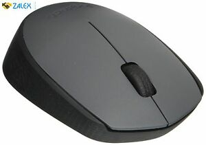 Logitech Wireless Mouse M170 Grey Simple Set Up No Hassle with Pairing Software