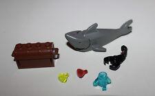 Lego SHARK Animal Old Dark Gray Pirates Islanders Treasure Chest Gems Scorpion
