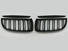 Gloss Black Front Dual Fin Grill Grille for BMW E90 E91 05-08 320i-335i Sedan WG