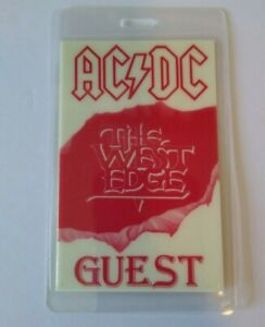 AC/DC Backstage Concert The Razors West Edge Glow In The Dark 1990 NOS Hard Rock
