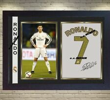 Cristiano Ronaldo Real Madrid C F signed autograph Football Memorabilia Framed