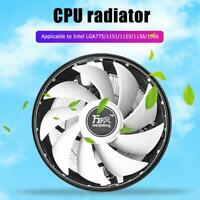 Wanjiafeng RGB CPU Cooling Fan 3 Pin Desktop PC Air Cooler for Intel LGA775/1151