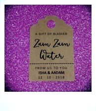 Zam Zam Water Personalised Wedding Mehndi Walimah Favour Tags MINI Price Label