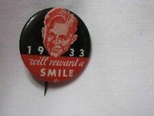 Chicago World's Fair 1933 Dunlop Tire & Rubber Co.Pin back Button-Vint. Original