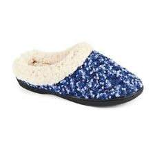 DEARFOAMS L(9-10), XL(11-12) Boucle Clog Slippers w/ Faux Shearling Cuff NWT
