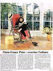 Coupure de presse Clipping 1990 (1 page) Marie France Pisier
