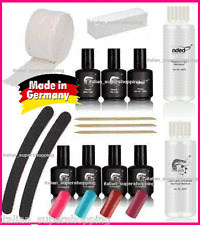 KIT SMALTO SEMIPERMANENTE 4 COLOR GEL UV NAIL ART SENZA LAMPADA GERMANY NDED EON