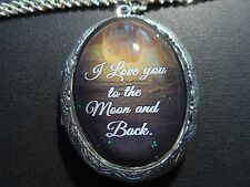 I LOVE YOU TO THE MOON AND BACK MOON OCEAN LOCKET-HIGH QUALITY