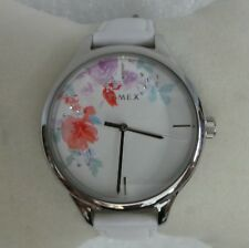 TimeX TW2R66800 Crystal Bloom 36mm Leather Strap Stainless Steel Watch