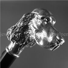 KNAUFSTOCK - COCKER SPANIEL - 925 STERLING SILBER - SPAZIERSTOCK - WALKING STICK