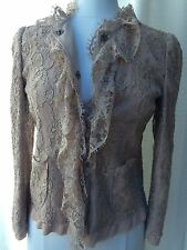 DOLCE &GABBANA  COLLECTION LACE BEIGE JACKET TOP AMAZING CURRENT SIZE 40 $1695