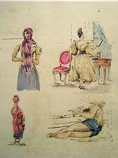 India raj indian figures, les femelles dame au piano, etc., avec col grandes hutchinson 1837
