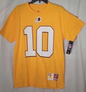 ROBERT GRIFFIN Shirt Men's Medium RG3 Washington Redskins Gold Official NFL