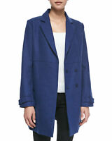 NWT Joie Cobalt Blue Liselle Double-breasted Wool Coat Cobalt Blue Size XS