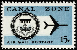 Canal Zone - 1965 - 15 Cents Canal Zone Seal & Jet Plane Airmail Issue #C44 NH