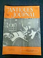 Antiques Journal 1954 Mettlach Steins Fairy Lamps American Patent Fans Tapestry
