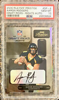 2005 AARON RODGERS Playoff Prestige AUTO Rookie RC POP 1 Green Bay Packers