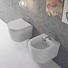 Sanitari Sospesi Ceramica Globo Forty3  cm 43  WC + BIDET + SEDILE SOFT CLOSE