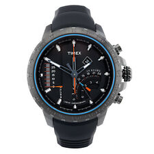 Timex Men's Quartz Watch Timex IQ Linear Indicator Chrono T2P272  Rubber Strap