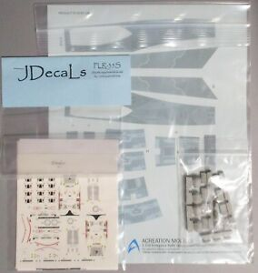 STAR TREK USS ENTERPRISE REFIT DLM PODS ACREATION DECALS JDecals  1/350