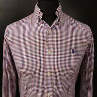 Ralph Lauren Mens Shirt SMALL Long Sleeve Multicoloured Regular Fit Check Cotton